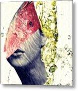 Fishhead Metal Print