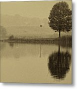 Fishing At Marsh Creek State Park Pa. Metal Print