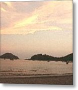 Fishing Bay At Sunset Metal Print