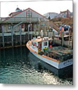 Fishing Boat At Chatham Fish Pier Metal Print