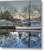 Fishing Boat At Newburyport Metal Print