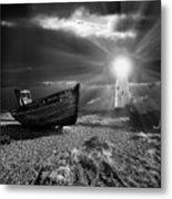 Fishing Boat Graveyard 7 Metal Print by Meirion Matthias