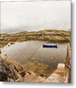 Fishing Boat In Lambs Head Harbor Metal Print