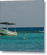 Scuba Boat On Turquoise Water Metal Print