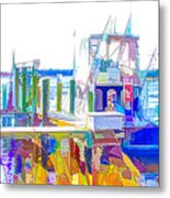 Fishing Boats 2 Metal Print