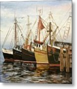 Fishing Boats At Hh Metal Print