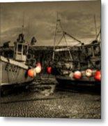 Fishing Boats At Lyme Regis Metal Print