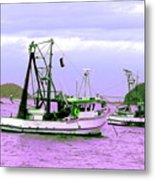 Fishing Boats At Pearl Beach 1.0 Metal Print