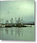 Fishing Boats Columbia River Metal Print