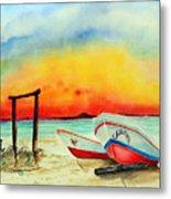 fishing boats Corozal Belize Metal Print