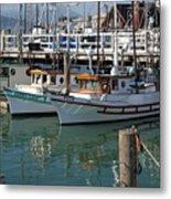 Fishing Boats In San Francisco Metal Print