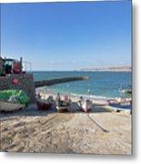 Fishing Boats In Sennen Cove Metal Print