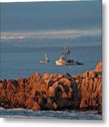 Fishing Boats On Monterey Bay Metal Print