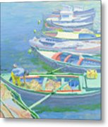 Fishing Boats Metal Print
