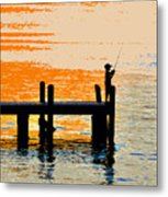 Fishing Boy Metal Print