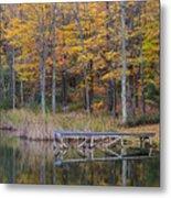 Fishing Dock In The Fall Metal Print