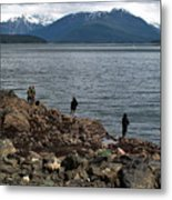 Fishing False Outer Point Metal Print