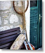 Fishing Gear In Primosten, Croatia Metal Print
