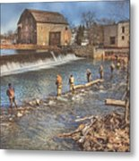 Fishing In Clinton Metal Print