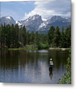 Fishing In Colorado Metal Print