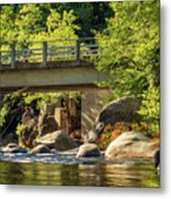 Fishing In Deer Creek Metal Print by James Eddy