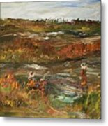 Fishing In The Backwoods Metal Print