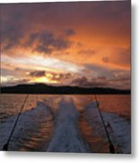 Fishing In The Sun Metal Print
