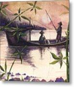 Fishing In The Sunset   Metal Print