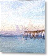 Fishing In Venice, Florida II Metal Print