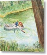 Fishing Lake Tanko Metal Print