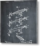 Fishing Lure Patent 1904 Chalk Metal Print