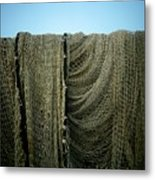Fishing Net Metal Print by Bernard Jaubert