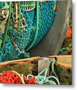 Fishing Net Portrait Metal Print