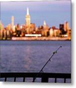 Fishing On The Hudson Metal Print