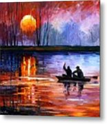 Fishing On The Lake  Metal Print