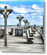 Fishing Pier 13 Metal Print