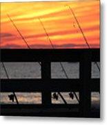 Fishing Poles Mount Sinai New York  Metal Print
