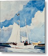 Fishing Schooner In Nassau Metal Print