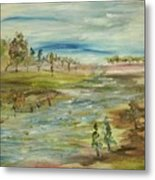 Fishing The Bottom Land Metal Print
