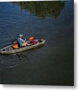 Fishing The Bypass Canal  Metal Print