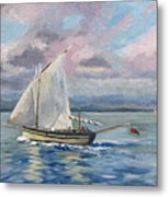 Fishing The Channel Metal Print