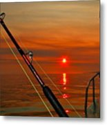 Fishing The Midnight Sun Metal Print