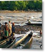 Fishing The River Magdalena Metal Print
