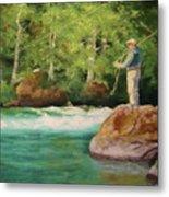 Fishing The Umpqua Metal Print