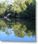 Fishing The Withlacoochee River. Metal Print