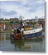 Fishing Trawler Wy 485 At Whitby Metal Print by Rod Johnson