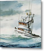 Fishing Vessel Devotion Metal Print
