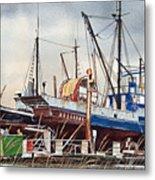 Fishing Vessel Ranger Drydock Metal Print