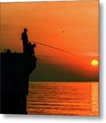 Morning Fishing 2 Metal Print