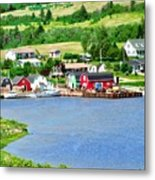 Fishing Village In Prince Edward Island Metal Print